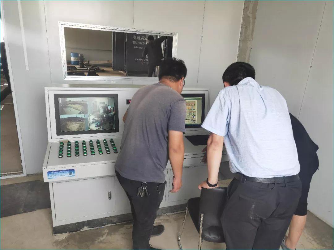 2019-6-29山東趙官能源注漿站設備調試與試運行