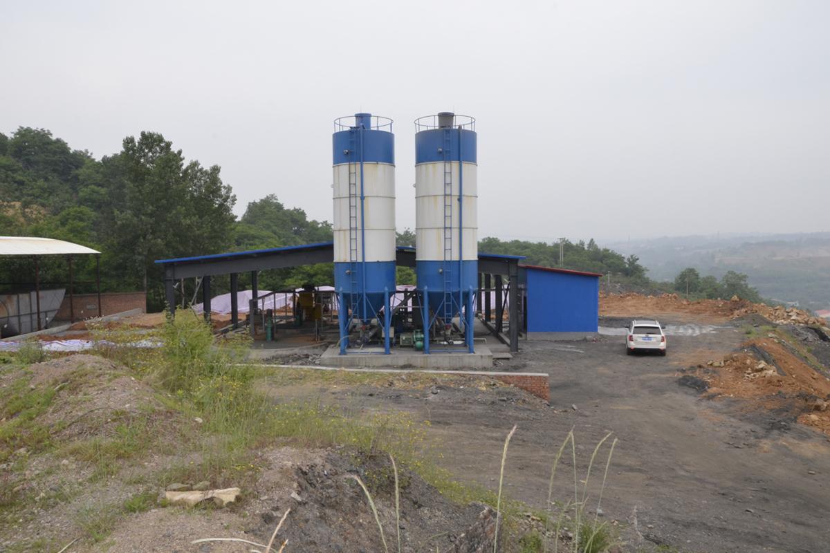 河南义煤集团洛阳云顶煤业混合浆液制浆