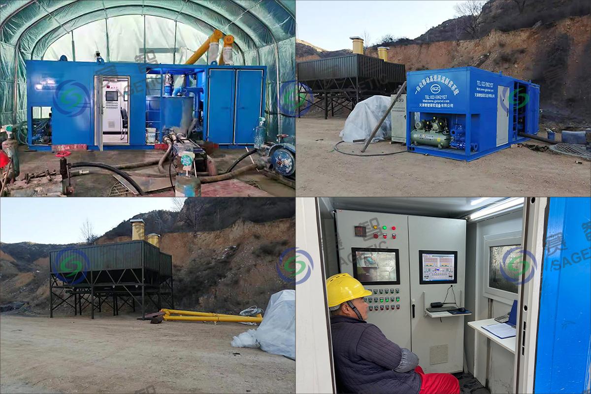 太原眾澤采空區治理項目一體化移動高速渦流制漿系統