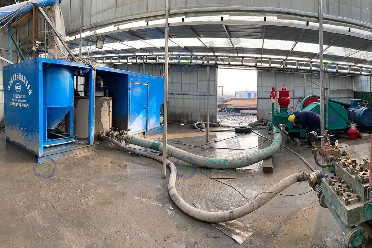 <p> 江苏煤炭地质勘探二队一体化高速制浆系统 </p>