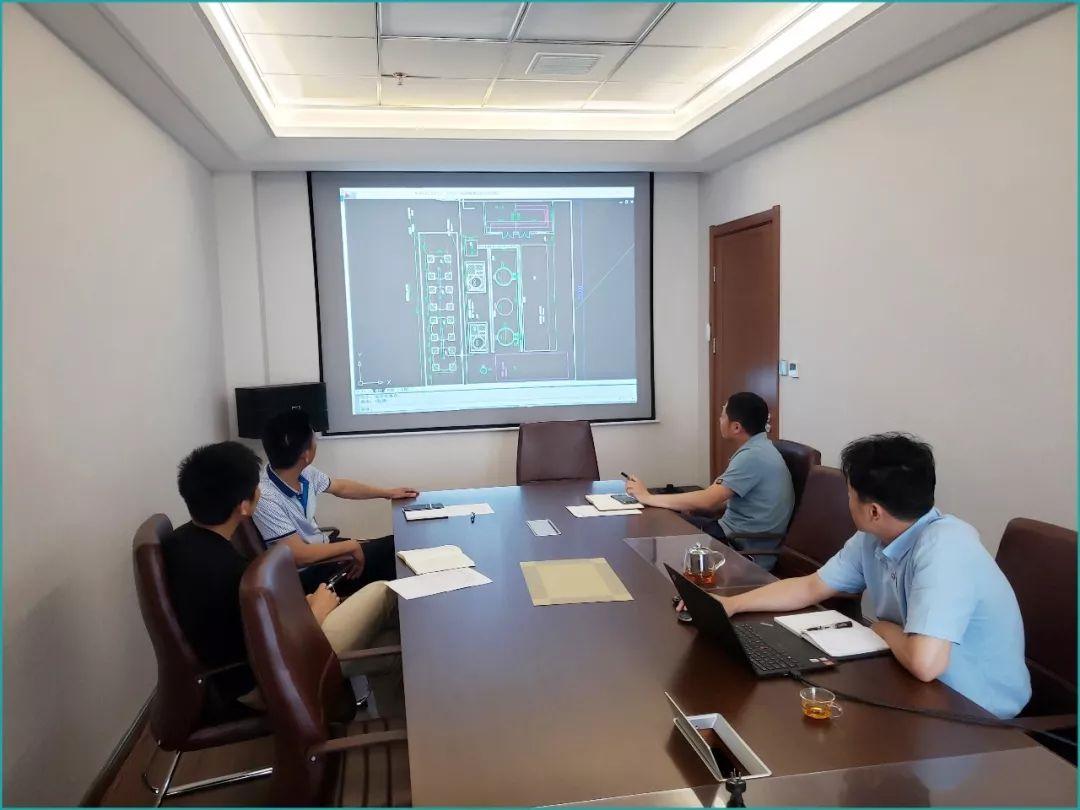 2019-5-19天津賽智針對山東趙官能源注漿站工程的項目研討會。